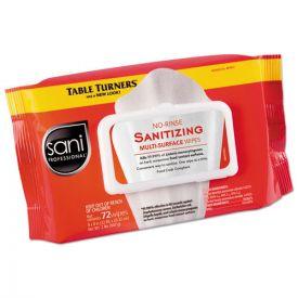 Sani Professional® No-Rinse Sanitizing  Multi-Surface Wipes, 9