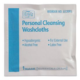 Sani Professional® Hygea Adult Wash Cloths, 10 x 11.5, 1-Ply