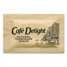 Café Delight Raw Turbinado Sugar Packets, 2.8 g Packet