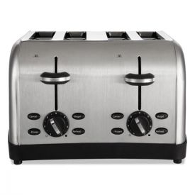 Oster® Extra Wide Slot Toaster, 4-Slice, 12 3/4 x 13 x 8 1/2, Stainless Steel