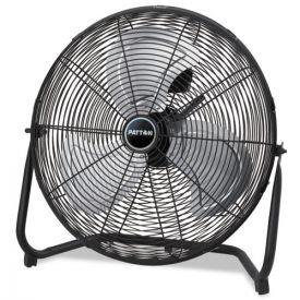 Patton High Velocity Fan, Three-Speed, Black, 24 1/2