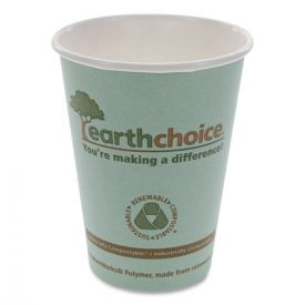 Pactiv EarthChoice Hot Cups, 12 oz, Teal,