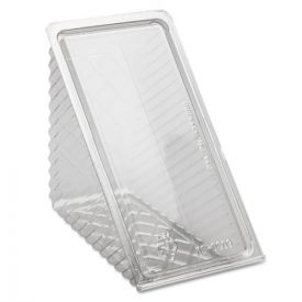 Pactiv Hinged Lid Sandwich Wedges, Plastic, Clear, 6 1/2 x 3 x 3 1/4