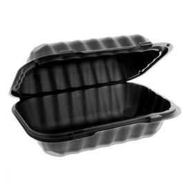 Pactiv EarthChoice SmartLock Microwavable Hinged Lid Containers, 9 x 6 x 3.25, Black