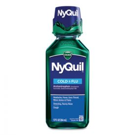 Vicks® NyQuil Cold & Flu Nighttime Liquid, 12oz. Bottle