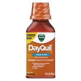 Vicks® DayQuil Cold & Flu Liquid, 12oz. Bottle