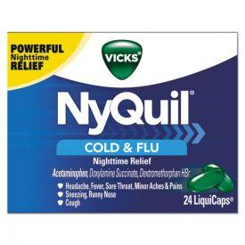 Vicks® NyQuil Cold & Flu Nighttime LiquiCaps, 24/Box