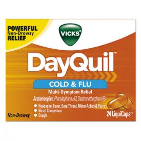 Vicks® DayQuil Cold & Flu LiquiCaps, 24/Box