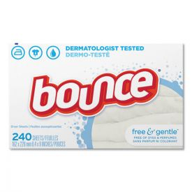 Bounce® Free & Gentle Fabric Softener Dryer Sheets, Unscented