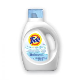 Tide® Free and Gentle Liquid Laundry Detergent, 64 Loads, 92oz. Bottle