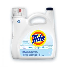 Tide® Free and Gentle Liquid Laundry Detergent, 96 Loads, 138oz Pump Bottle