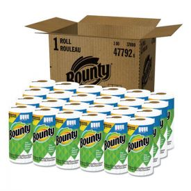 Bounty® Select-a-Size Paper Towels, 2-Ply, White, 5.9 x 11, 83 Sheets/Roll