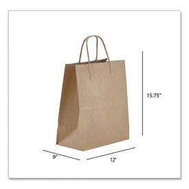 Prime Time Packaging Kraft Paper Bags, Regal, 12 x 9 x 15.75, Natural