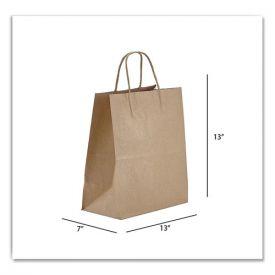 Prime Time Packaging Kraft Paper Bags, Jr. Mart, 13 x 7 x 13, Natural