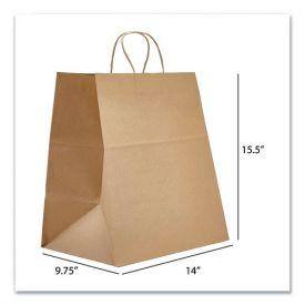 Prime Time Packaging Kraft Paper Bags, Super Royal, 14 x 9.75 x 15.5, Natural