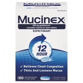 Mucinex® Expectorant Regular Strength, 100 tablets