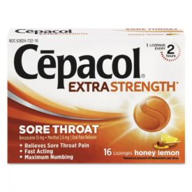 Cepacol® Extra Strength Sore Throat Lozenges, Honey Lemon