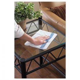 Rubbermaid® Commercial HYGEN™ HYGEN Sanitizer Safe Microfiber Cloth, 16 x 19, White/Blue,