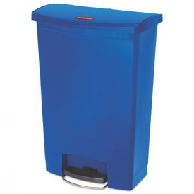 Rubbermaid® Commercial Slim Jim Resin Step-On Container, Front Step Style, 24gal, Blue