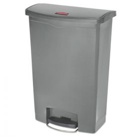 Rubbermaid® Commercial Slim Jim Resin Step-On Container, Front Step Style, 24gal, Gray