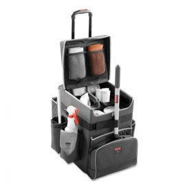 Rubbermaid® Commercial Executive Quick Cart, Small, 14.25w x 16.5d x 17h, Dark Gray