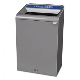 Rubbermaid® Commercial Configure Indoor Recycling Waste Receptacle, 33 gal, Gray, Mixed Recycling