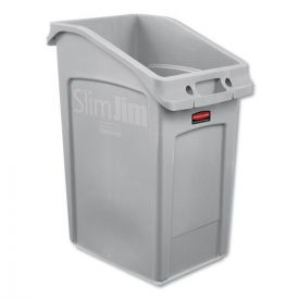 Rubbermaid® Commercial Slim Jim Under-Counter Container, 23gal, Polyethylene, Gray