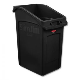 Rubbermaid® Commercial Slim Jim Under-Counter Container, 23gal, Polyethylene, Black