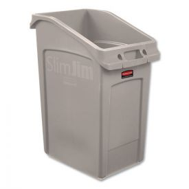 Rubbermaid® Commercial Slim Jim Under-Counter Container, 23gal, Polyethylene, Beige