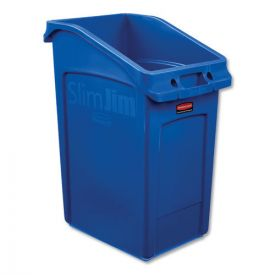 Rubbermaid® Commercial Slim Jim Under-Counter Container, 23gal, Polyethylene, Blue