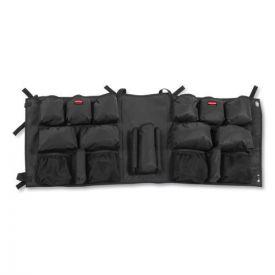 Rubbermaid® Commercial Slim Jim Caddy Bag, 19 Compartments, 10.25w x 19h, Black