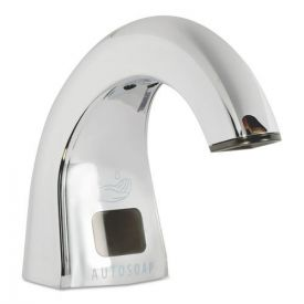 Rubbermaid® Commercial One Shot Soap Dispenser - Touch Free, Polished Chrome, 2 lbs