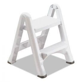 Rubbermaid® EZ Step 2-Step Folding Stool, 19.5 x 20.6 x 22.7, White