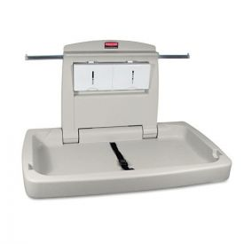 Rubbermaid® Commercial Sturdy Station 2 Baby Changing Table, 33.5 x 21.5, Platinum