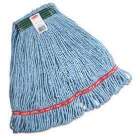 Rubbermaid® Commercial Swinger Loop Wet Mop Heads, Cotton/Synthetic, Blue, Medium