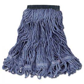 Rubbermaid® Commercial Swinger Loop Wet Mop Head, Medium, Cotton/Synthetic, Blue