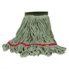 Rubbermaid® Commercial Swinger Loop Wet Mop Heads, Cotton/Synthetic, Green, Medium