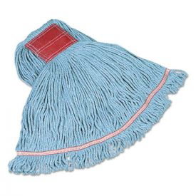 Rubbermaid® Commercial Swinger Loop Wet Mop Heads, Cotton/Synthetic, Blue, Large