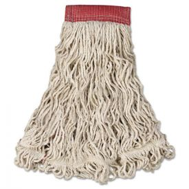 Rubbermaid® Commercial Swinger Loop Wet Mop Head, Large, Cotton/Synthetic, White