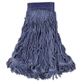 Rubbermaid® Commercial Swinger Loop Wet Mop Head, X-Large, Cotton/Synthetic, Blue
