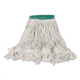Rubbermaid® Commercial Swinger Loop Shrinkless Mop Heads, Cotton/Synthetic, White, Medium