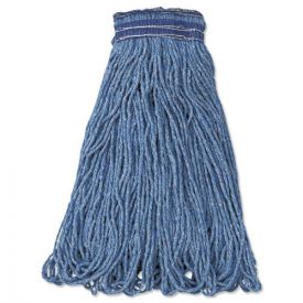 Rubbermaid® Commercial Universal Headband Mop Head, Cotton/Synthetic, 24oz, Blue