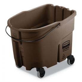 Rubbermaid® Commercial WaveBrake 2.0 Bucket, 35qt, Plastic, Brown