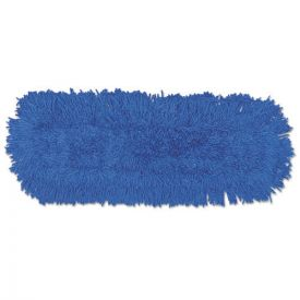 Rubbermaid® Commercial Twisted Loop Blend Dust Mop, Synthetic, 24 x 5, Blue