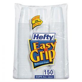 Hefty® Easy Grip Disposable Plastic Bathroom Cups, 3oz, White