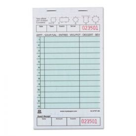 AmerCareRoyal® Guest Check Book, Two-Part Carbonless, 4 1/5