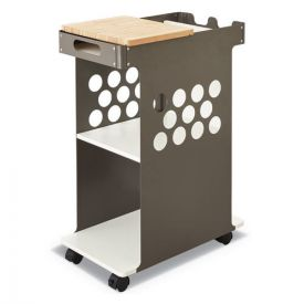 Safco® Mini Rolling Storage Cart, 29.75w x 15.75d x 16.5h, White, 200-lb Capacity
