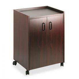 Safco® Mobile Refreshment Center, One-Shelf, 23w x 18d x 31h, Mahogany