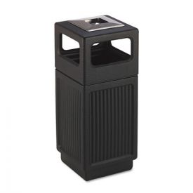Safco® Canmeleon Ash/Trash Receptacle, Square, Polyethylene, 15gal, Textured Black