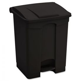 Safco® Large Capacity Plastic Step-On Receptacle, 17gal, Black